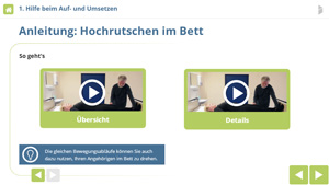 Screenshot E-Learning Bewegung fördern